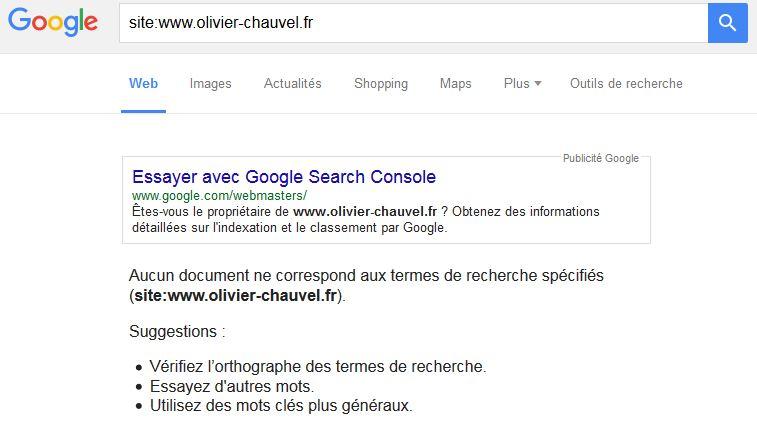 désindexation d'un site par Google