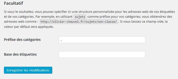 supprimer le préfixe des URL de catégories wordpress