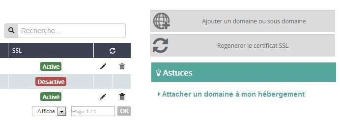 SSL activé sur OVH