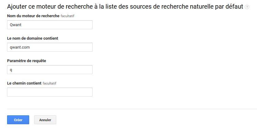 ajouter un moteur de recherche à la liste des sources de recherche naturelle par défaut